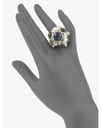 Ippolita | Metallic Mother Of Pearl Quartz Sterling Silver Constellation Ring | Lyst