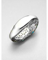 John Hardy - Metallic Semiprecious Multistone Pebble Cuff Bracelet - Lyst