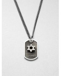 King Baby Studio | Metallic Sterling Silver Star Of David Dog Tag Necklace | Lyst