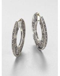 Konstantino - Metallic Sterling Silver Disc Hoop Earrings - Lyst