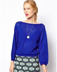 Mademoiselle Tara - Airtex Knit in Yves Klein Blue - Lyst