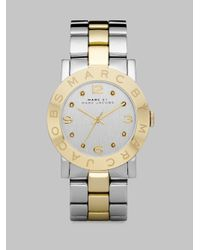 Marc By Marc Jacobs - Metallic Crystal Two-tone Stainless Steel Watch - Lyst