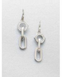 Marc By Marc Jacobs | Metallic Mini Link Nut Drop Earringssilvertone | Lyst