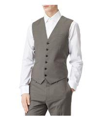 Reiss - Gray Garth W Classic Waistcoat for Men - Lyst