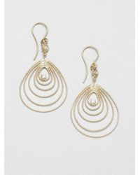 Roberto Coin - Metallic Diamond 18k Gold Teardrop Earrings - Lyst