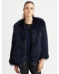 Sachin & Babi   Blue Isla Raccoon Fur Jacket   Lyst