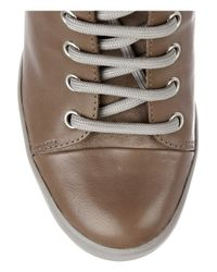 See By Chloé - Brown Suede and Leather High-top Wedge Sneakers - Lyst
