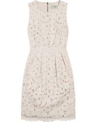 Stella McCartney | Multicolor Floral-cutout Cotton Dress | Lyst