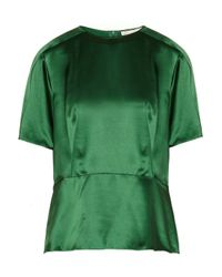 Stella McCartney | Green Silk Top | Lyst