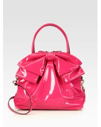 Valentino Purple Patent Leather Bow Bag