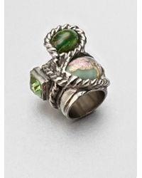 Saint Laurent | Metallic Arty N Color 3stone Ring | Lyst