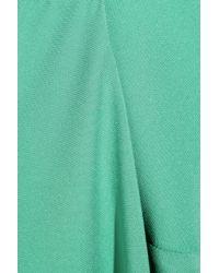 Zero + Maria Cornejo - Green Mia Draped Silk-crepe Dress - Lyst