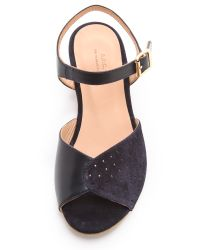 A.P.C. Black Demi Wedge Sandals