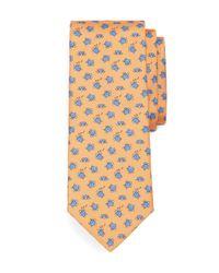 Brooks Brothers - Orange Sea Turtle Print Tie for Men - Lyst