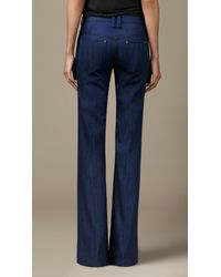 Burberry Blue Indigo Flare Fit Jeans
