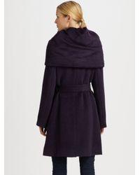 Cole Haan - Purple Oversized-Collar Coat - Lyst