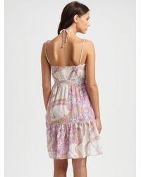 Emilio Pucci - Pink Cotton silk Ruffle Dress - Lyst