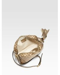 Gucci Natural Sunshine Metallic Microguccissima Disco Bag