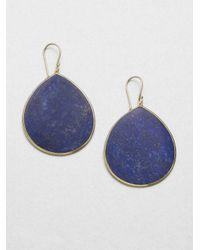 Ippolita - Blue Lapis & 18K Yellow Gold Teardrop Earrings - Lyst