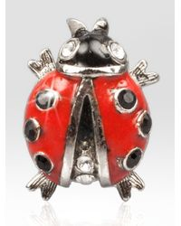 Jay Strongwater | Multicolor Ladybug Tack Pin | Lyst