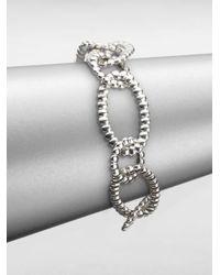 John Hardy - Metallic Sterling Silver Ribbed Link Bracelet - Lyst