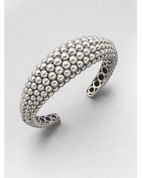 Lagos | Metallic Sterling Silver Caviar Cuff Bracelet | Lyst
