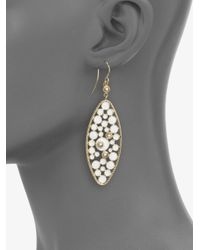 Roberto Coin | Metallic Enamel 18k Gold Drop Earrings | Lyst