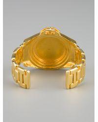 Tom Binns - Metallic Fake Watch Bracelet - Lyst