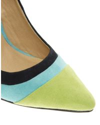 ASOS Green Asos Piper Pointed High Heels with Colour Block
