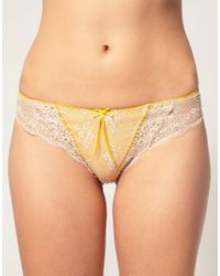 Elle Macpherson | Yellow Intimates Dentelle Thong | Lyst