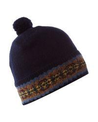 Polo Ralph Lauren Fairisle Bobble Hat In Blue For Men Lyst