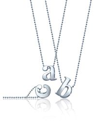 BaubleBar | Metallic Silver Alpha Pendant  | Lyst