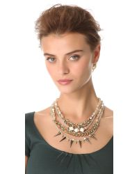 Erickson Beamon - Multicolor Pretty in Punk Layered Necklace - Lyst