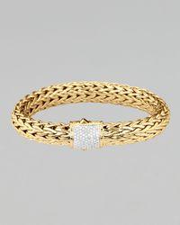 John Hardy | Metallic Classic Chain Gold Diamond Bracelet | Lyst