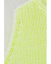 Tibi Yellow Neon Chunky and Fine knit Sweater
