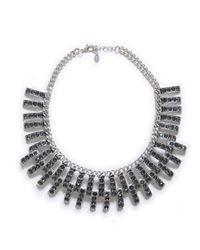 Zara | Black Chain Necklace with Sparkles Appliqué | Lyst