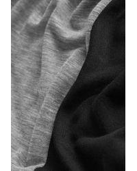 TOPSHOP - Gray Mesh Insert Panel Top - Lyst