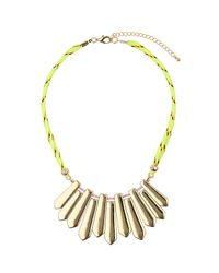 TOPSHOP - Yellow Piano Collar - Lyst