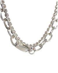 ASOS - Metallic Double Row Chain Choker Necklaces - Lyst