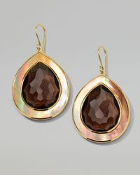 Ippolita - Metallic Ondine Smoky Quartz Shell Teardrop Earrings - Lyst