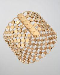 John Hardy - Metallic 18k Gold Dot Wide Link Bracelet - Lyst