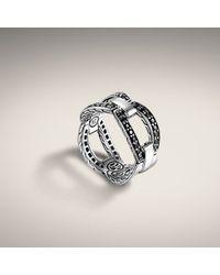John Hardy | Metallic Small Interlinking Band Ring | Lyst