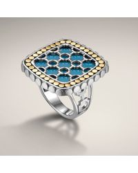 John Hardy | Blue Small Square Ring | Lyst