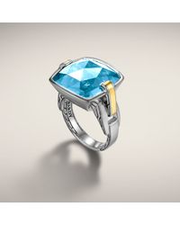 John Hardy - Blue Large Square Ring - Lyst