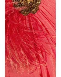 Matthew Williamson - Red One-shoulder Silk-chiffon Dress - Lyst