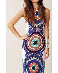 Mara Hoffman | Blue Backless Column Dress | Lyst