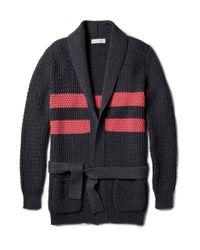 Michael Bastian | Blue Chunkyknit Cotton Cardigan for Men | Lyst