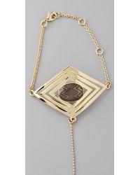House of Harlow 1960 - Metallic Double Diamond Hand Bracelet - Lyst