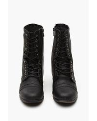 Nasty Gal Black Fiona Combat Boot