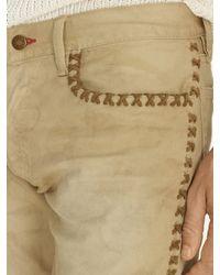 Ralph Lauren Black Label - Natural Embellished Slim Fit Jean for Men - Lyst